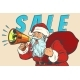 Christmas Sale Santa Claus with Megaphone