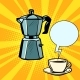 Electric Coffee Pot and Cup