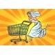 Pop Art Bride Runs for Wedding Shopping