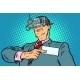 The Virtual Identity Concept. Businessman Online