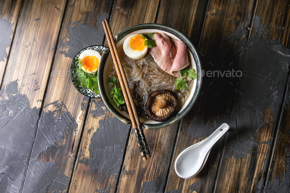 Japanese Noodle Soup - Stock Photo - Images