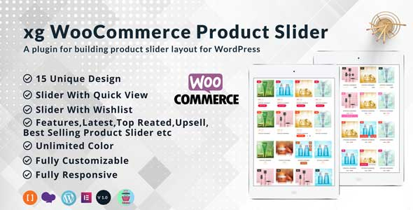 xg WooCommerce product slider | product quick view | product  wishlist all in one product slider.            Nulled