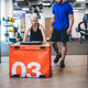 Young woman pushing weight at the gym. - PhotoDune Item for Sale