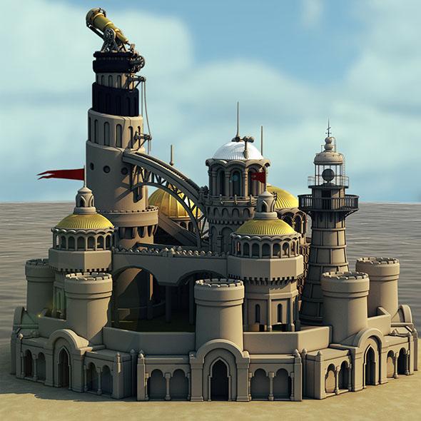 Castle Island 3D model - 3DOcean Item for Sale