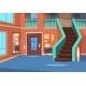 Cartoon Hallway. House Entrance Interior - GraphicRiver Item for Sale