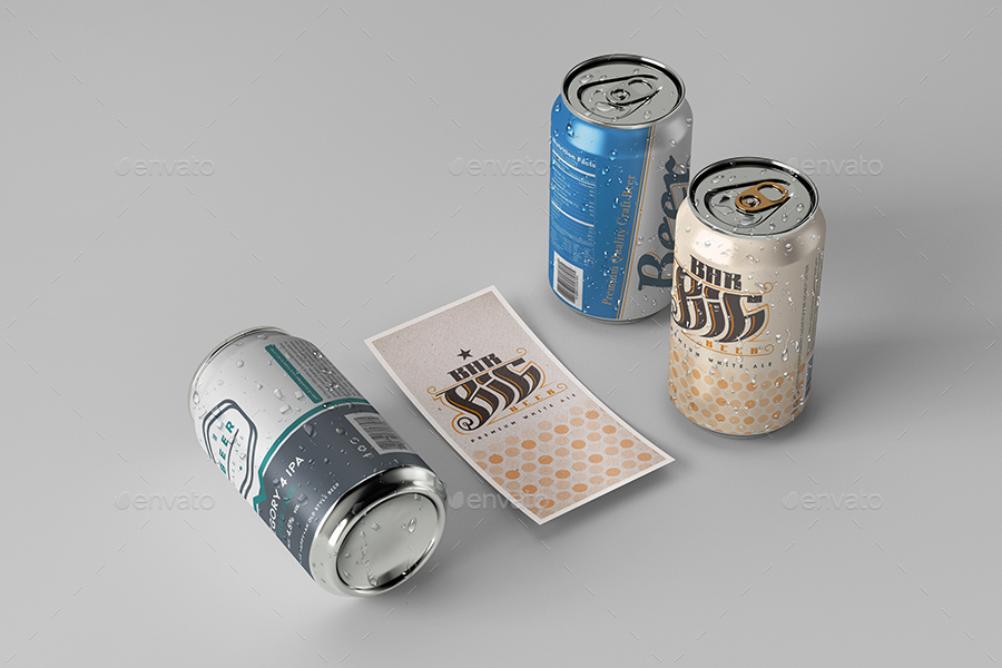 Beer Can 330 ml Mock-up