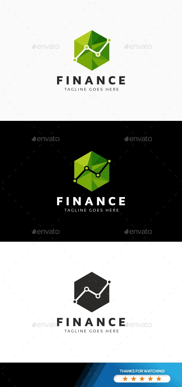 Finance Hexagon Logo - Symbols Logo Templates