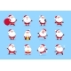 Santa Claus. Cartoon Christmas Fun Character Set - GraphicRiver Item for Sale