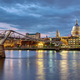 St. Paul's cathedral  and the Millennium Bridge  - PhotoDune Item for Sale
