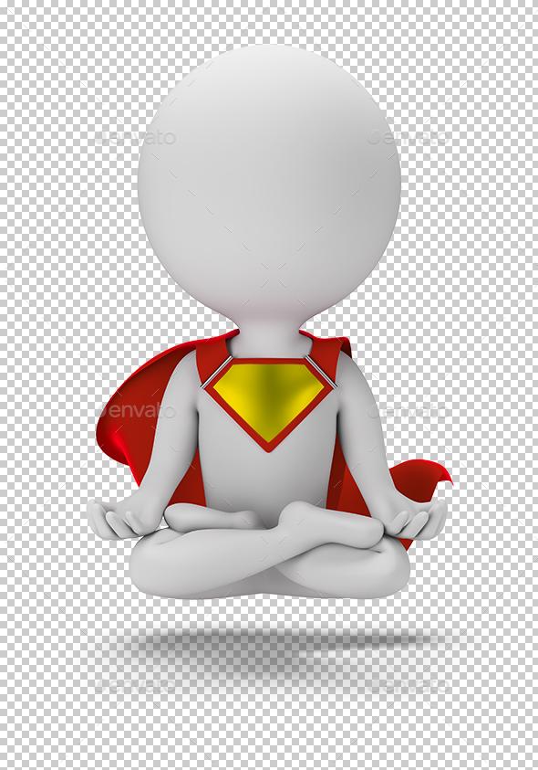 3D Small Superhero - Levitation - Characters 3D Renders