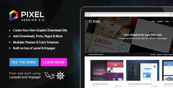 Pixel v2 - Premium Download Script - CodeCanyon Item for Sale