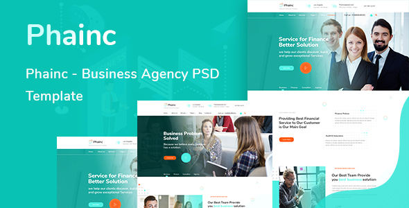 Phainc  - Business Agency PSD Template - Corporate PSD Templates