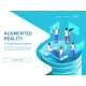 Isometric 3d People Learning and Working