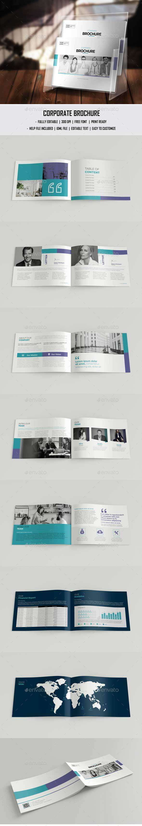 A5 Landscape Annual Report - Brochures Print Templates