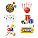 Realistic Detailed Casino Sport and Leisure Games Icons