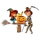 Mom and Daughter in Halloween Costumes Poster