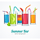 Summer Bar and Cocktail Glasses Concept - GraphicRiver Item for Sale