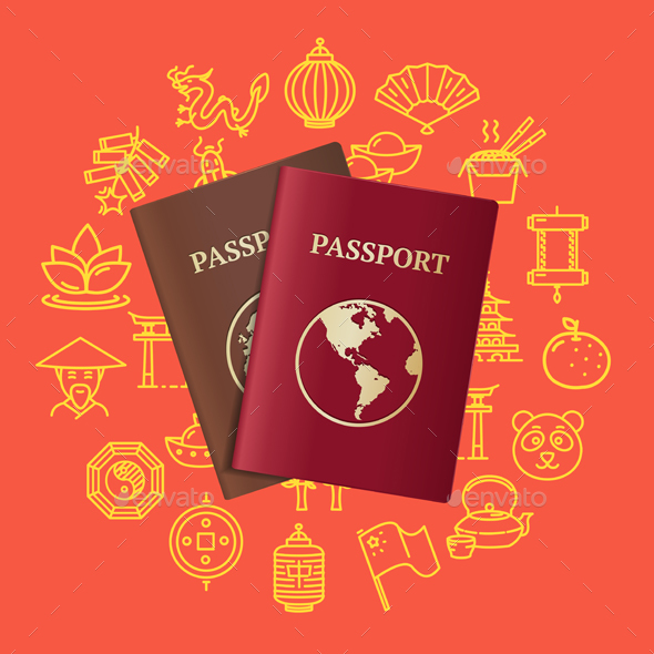China Travel and Tourism Concept Card - Travel Conceptual