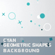 Cyan Geometric Shapes Background - VideoHive Item for Sale
