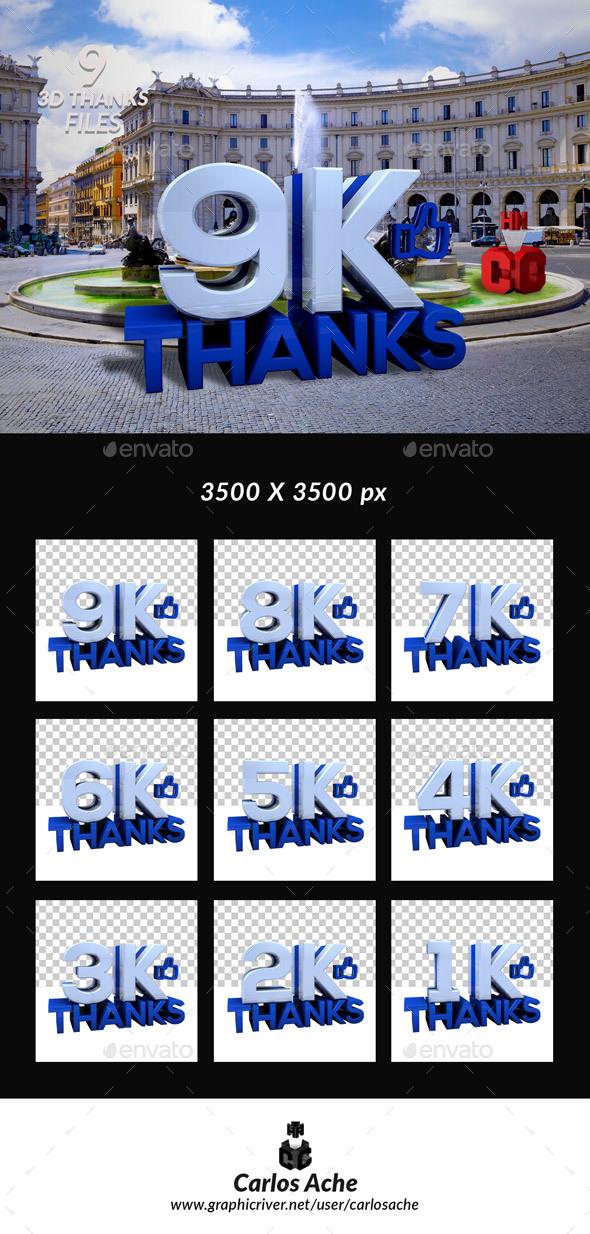 Facebook Like - Text 3D Renders