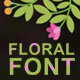 Floral animated fonts - VideoHive Item for Sale