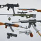 Low-Poly Stylized Guns Pack