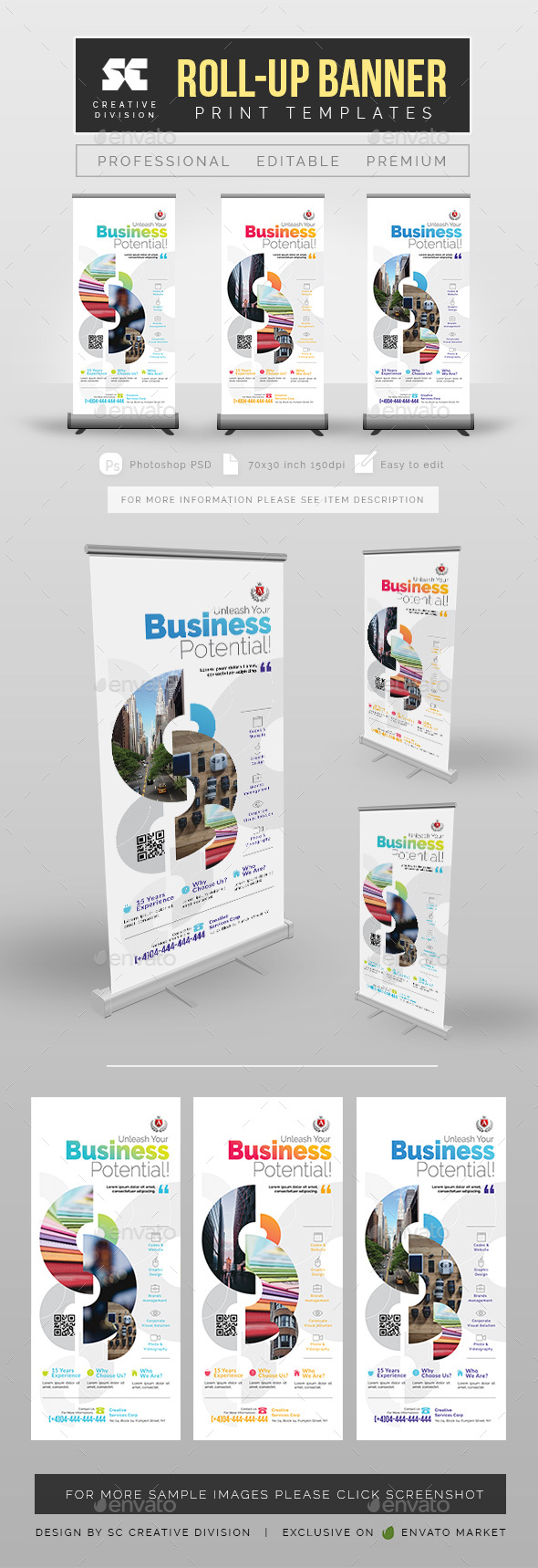Corporate Roll Up Banner - Signage Print Templates