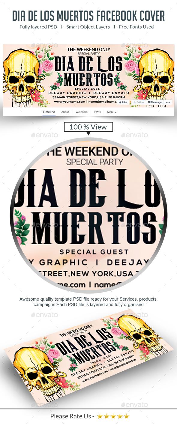 Dia De Los Muertos Facebook Cover - Facebook Timeline Covers Social Media
