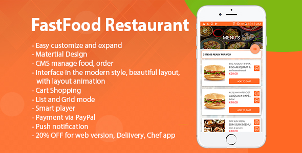 Restaurant Fastfood - CodeCanyon Item for Sale