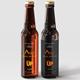 Amber Glass Beer Bottle Mockup 03 - GraphicRiver Item for Sale