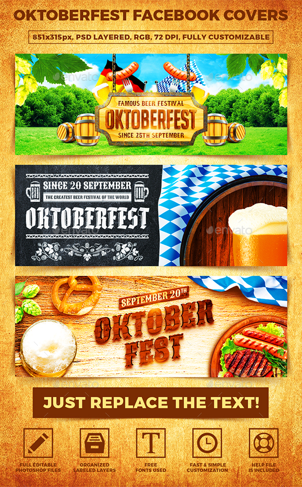 Oktoberfest Facebook Covers - Banners & Ads Web Elements