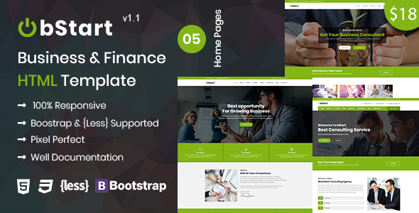 Bstart - Business & Finance HTML Template