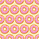 Seamless Background with Pink Donuts