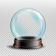 Christmas Snowglobe Vector. Empty Snow Globe - GraphicRiver Item for Sale