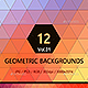 12 Geometric Colorful Backgrounds - GraphicRiver Item for Sale