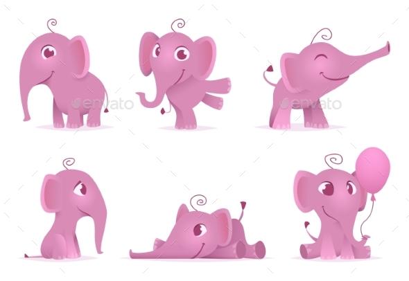 Baby Elephant - Characters Vectors