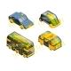 Future Unmanned Vehicle. Autonomous Transport Cars