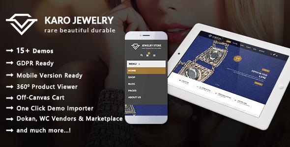 Karo - Jewelry and Diamond Handcrafted WooCommerce WordPress Theme