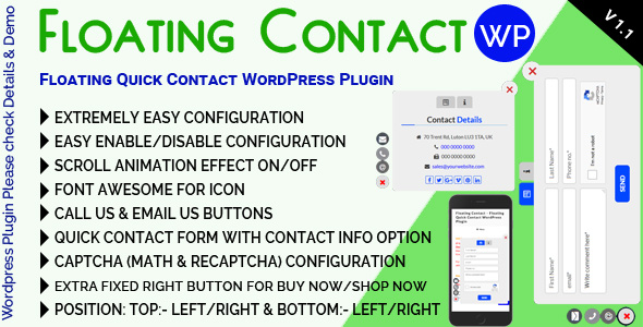 Floating Contact - Floating Quick Contact WordPress Plugin            Nulled