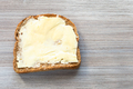 sandwich with butter on gray wooden board - PhotoDune Item for Sale