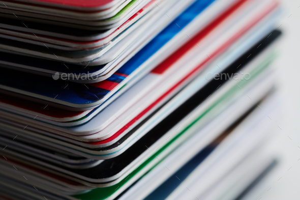Stack of credit cards - Stock Photo - Images