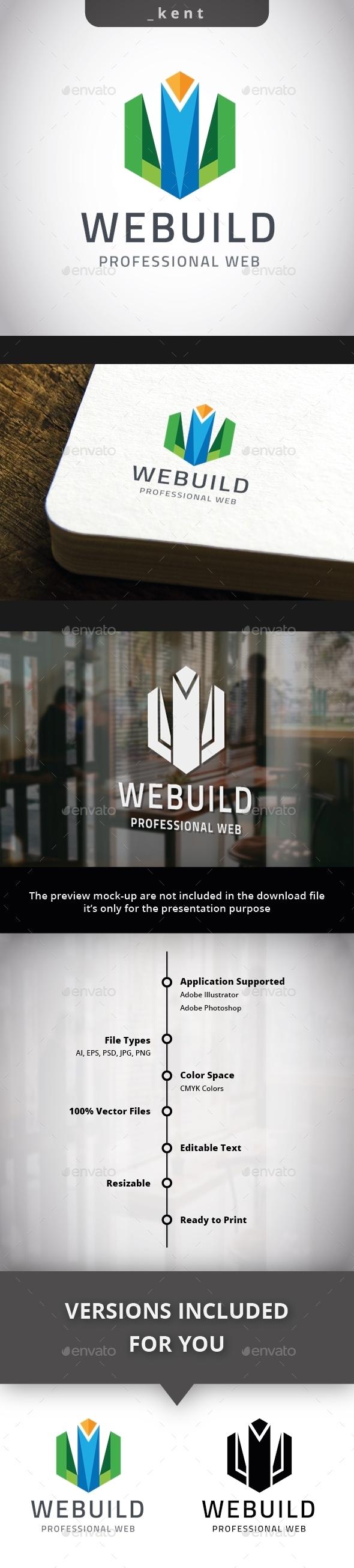 Web Building - Letter W Logo - Letters Logo Templates