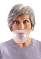 Adult Woman Blowing Chewing Gum - PhotoDune Item for Sale