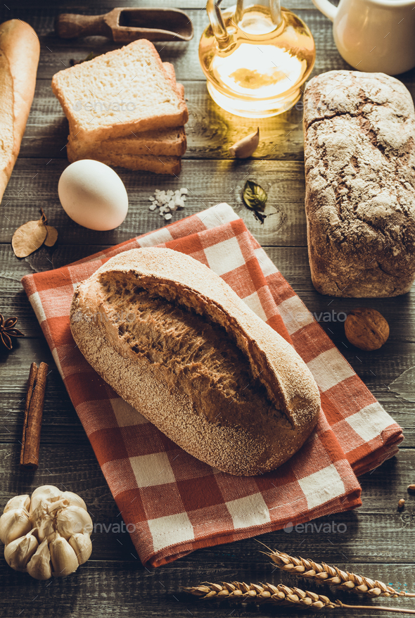 bread and bakery products - Stock Photo - Images