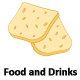 500 Food And Drinks Vector Isolated Icons - GraphicRiver Item for Sale
