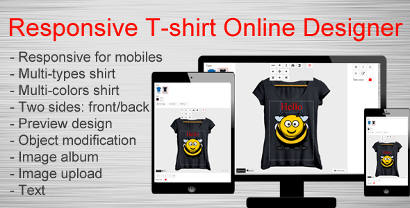Responsive T-shirt Online Designer Free Download | Nulled