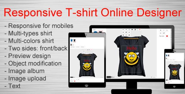 Responsive T-shirt Online Designer            Nulled