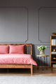 Pink and grey bedroom interior - PhotoDune Item for Sale