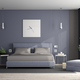 Gray and purple master bedroom - PhotoDune Item for Sale