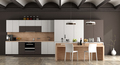 White and brown contemporary kitchen - PhotoDune Item for Sale